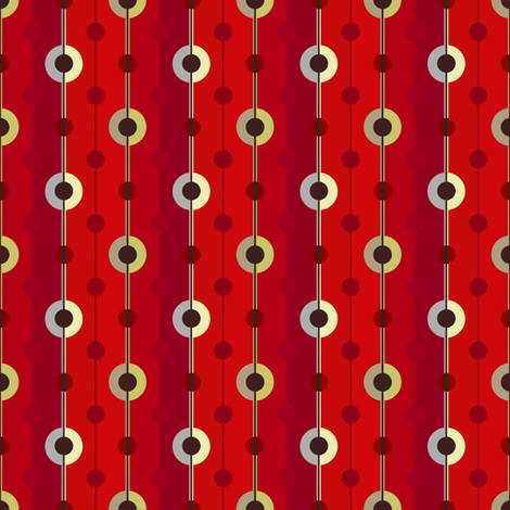 Dots and Stripes in Red fabric by joanmclemore on Spoonflower - custom fabric