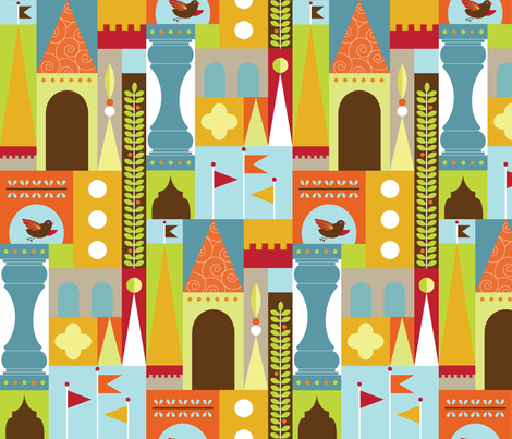 Castle Blocks Boy fabric by kayajoy on Spoonflower - custom fabric