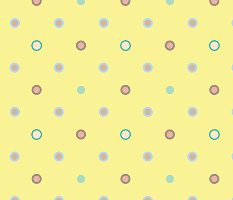 Pink n Blue Dots fabric by can-do-girl-fabric on Spoonflower - custom fabric