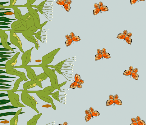 Butterfly Life Cycle fabric by corinnevail on Spoonflower - custom fabric