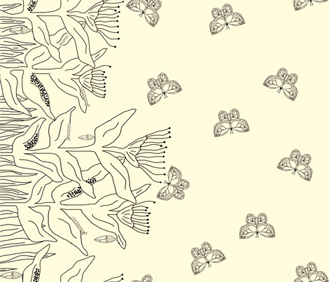 Color Me_Butterfly Life Cycle fabric by corinnevail on Spoonflower - custom fabric