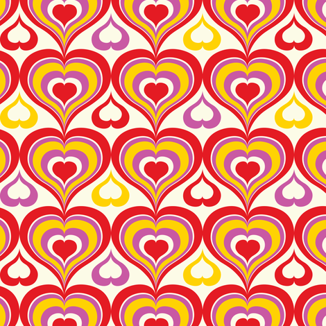 Groovy Kind Of Love fabric by heatherdutton on Spoonflower - custom fabric