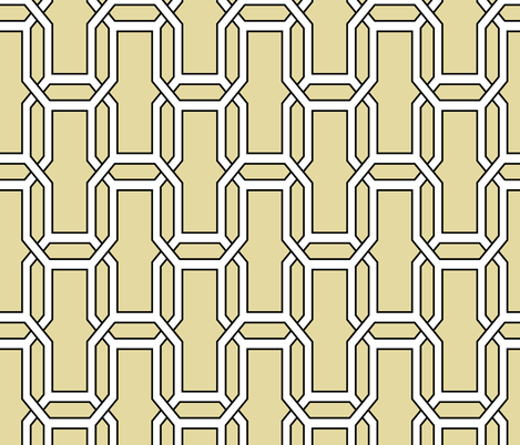 interlock_vanilla_and_black fabric by ravynka on Spoonflower - custom fabric