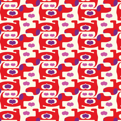 Puppy Love fabric by heatherdutton on Spoonflower - custom fabric