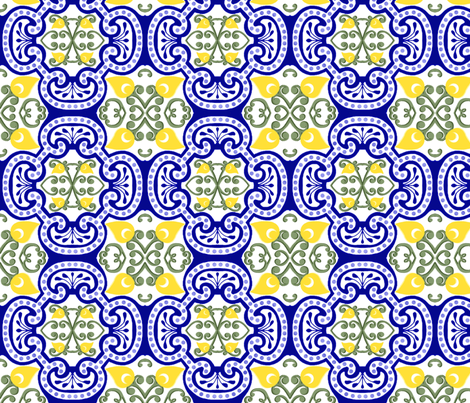 French Country Tiles fabric by patchinista on Spoonflower - custom fabric
