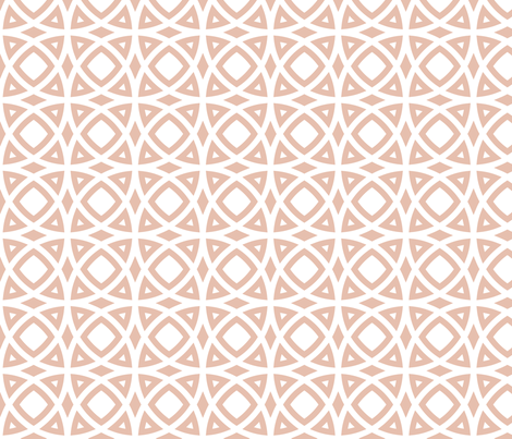 dusty pink circles fabric by ravynka on Spoonflower - custom fabric