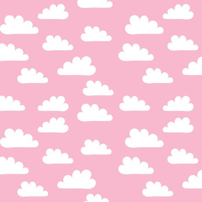 White clouds on Pink