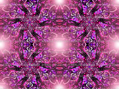Pink n' purple electric storm with foggy haze