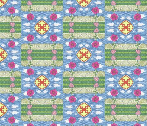 Flower in the field by Gabrielle fabric by studiocherie on Spoonflower - custom fabric