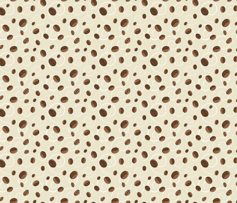 Cute Coffee Beans Pattern fabric by diane555 on Spoonflower - custom fabric