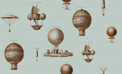 vintage hot air baloons rust and steel