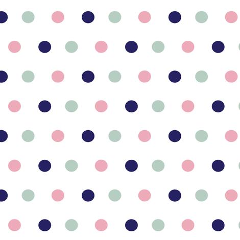 Boho Dots (large) ©2015 Jill Bull Palm Row Prints fabric by palmrowprints on Spoonflower - custom fabric