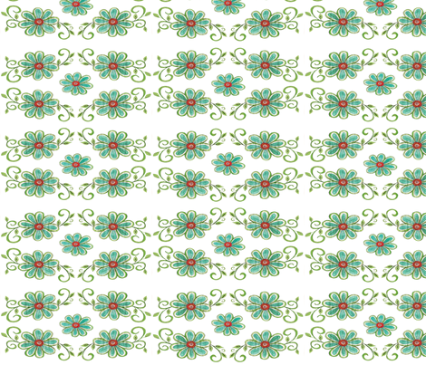 BLUE DAISY fabric by garwooddesigns on Spoonflower - custom fabric