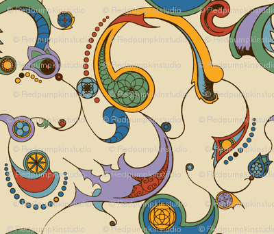 Steampunk Swirls - Coloured