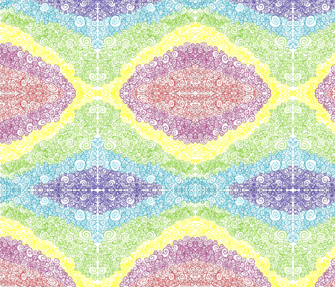 Rainbow Swirl fabric by mollymoo on Spoonflower - custom fabric