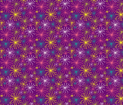 Firework Show fabric by audzipan on Spoonflower - custom fabric