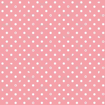 Polka bunnies - Salmon Pink