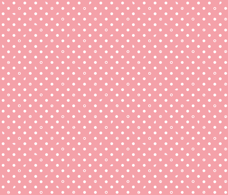 Polka bunnies - Salmon Pink fabric by trirose on Spoonflower - custom fabric