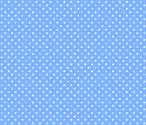Polka bunnies - Medium Blue fabric by trirose on Spoonflower - custom fabric