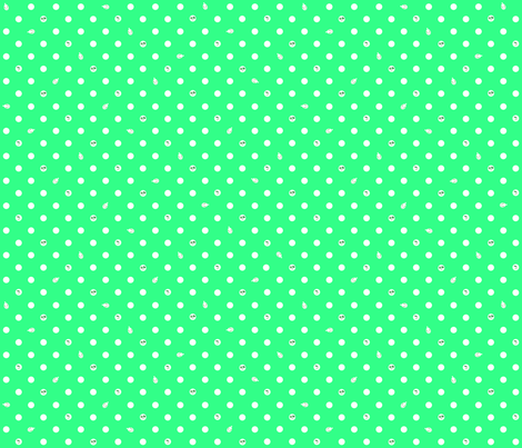 Polka bunnies - Lime Green fabric by trirose on Spoonflower - custom fabric