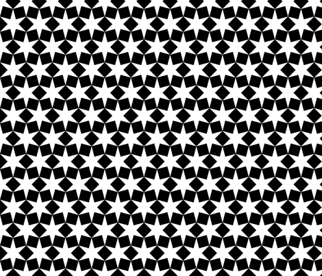 R6 V2 stars and squares fabric by sef on Spoonflower - custom fabric