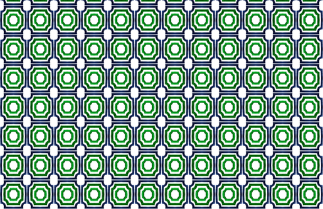 C'EST LA VIV Lattice Shadow BlueEmerald fabric by cest_la_viv on Spoonflower - custom fabric