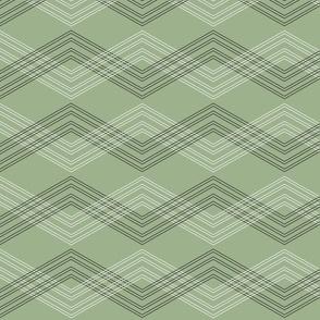 Crisscross Chevron Jade