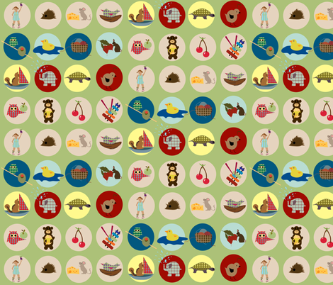 Alphabet icons fabric by kri8f on Spoonflower - custom fabric