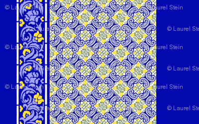 French Country Tiles - Border Print