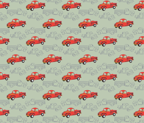 LaraGeorgine_50s_Vintage fabric by larageorgine on Spoonflower - custom fabric