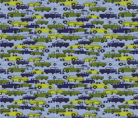 LaraGeorgine_Traffic fabric by larageorgine on Spoonflower - custom fabric