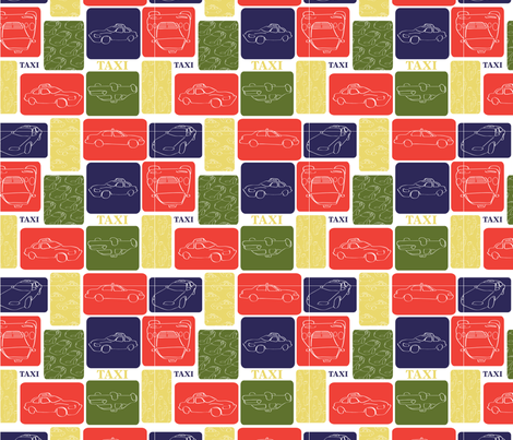 LaraGeorgine_Taxi fabric by larageorgine on Spoonflower - custom fabric