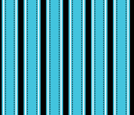 Blue/Black Stripes fabric by writefullysew on Spoonflower - custom fabric