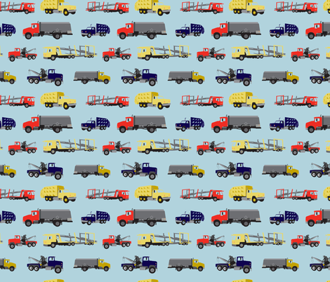 LaraGeorgine_Busy_Trucks fabric by larageorgine on Spoonflower - custom fabric