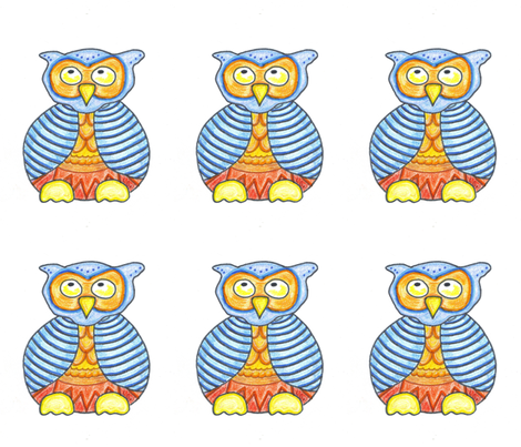 Funky Owl fabric by lorigrace on Spoonflower - custom fabric