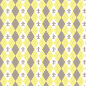 Argyle in Paris Yellow/Taupe