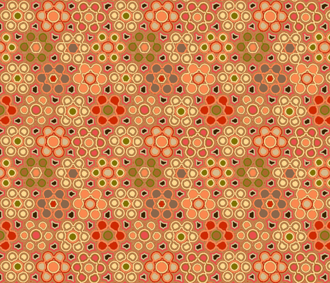 hexagons_coral fabric by lfntextiles on Spoonflower - custom fabric