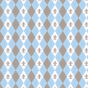 Argyle in Paris Blue/Taupe