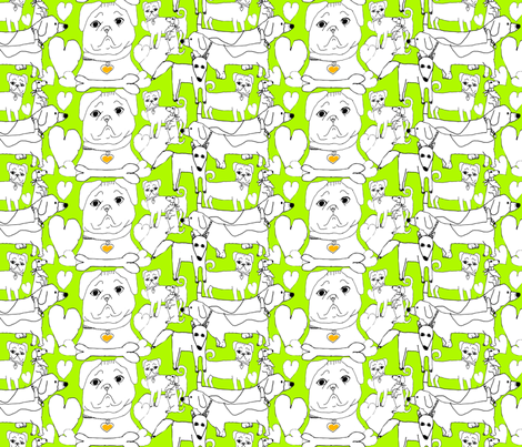 My Favorite Dogs by Alayna Age 8 fabric by twobloom2 on Spoonflower - custom fabric
