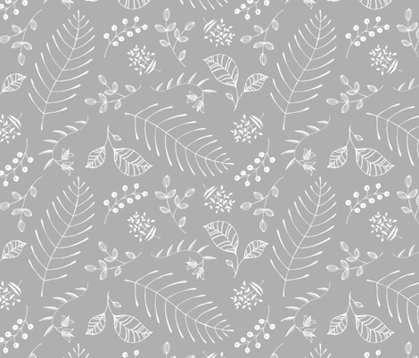 Botanika Gray fabric by pattysloniger on Spoonflower - custom fabric