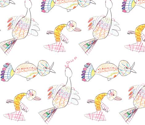 Singing Birds by Emma Joy, 5 yrs. fabric by kayajoy on Spoonflower - custom fabric