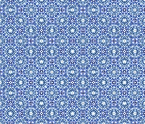 Under the Big Top - Blue fabric by rhondadesigns on Spoonflower - custom fabric