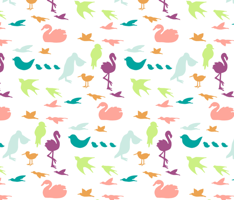 colorfulbirds fabric by mrshervi on Spoonflower - custom fabric