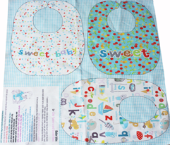 Cherry sweet baby bibs sewing template