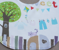 Playground baby bibs sewing template