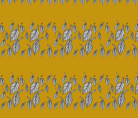 Golden Leaves fabric by illusio on Spoonflower - custom fabric
