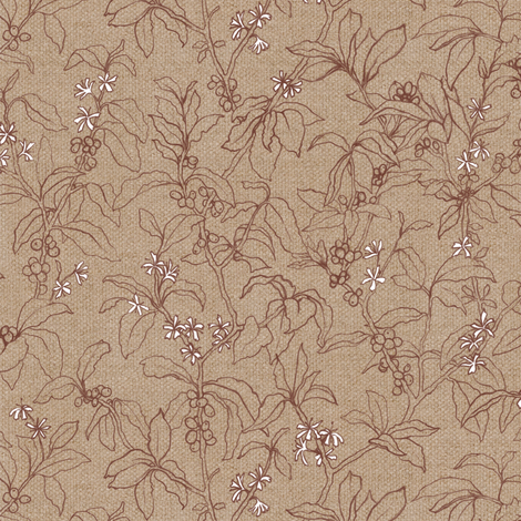 Arabica Cherry | Burlap fabric by forest&sea on Spoonflower - custom fabric