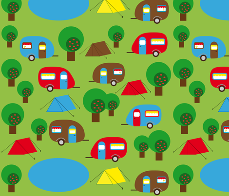 Camping fabric by heimatkinder on Spoonflower - custom fabric