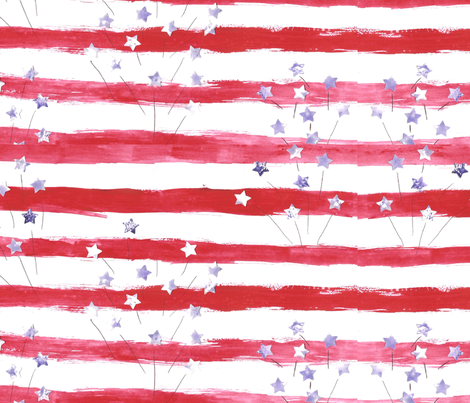 American fireworks fabric by barakatblessings on Spoonflower - custom fabric