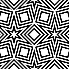 R6 V2i outlined stars and squares